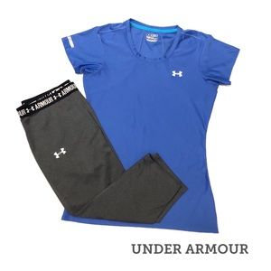 Set•M•Under Armour Compression Legging & Tee Set